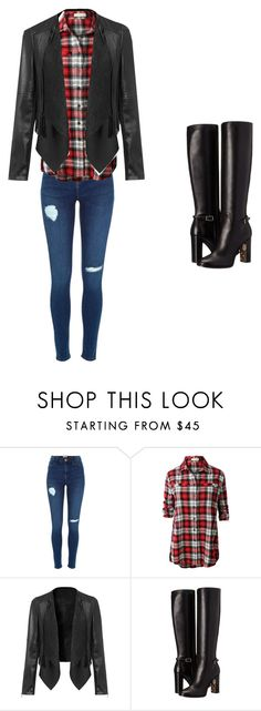 """""""tomboy but girly girl"""" by daniella-brown-1 on Polyvore featuring LE3NO and Burberry"""