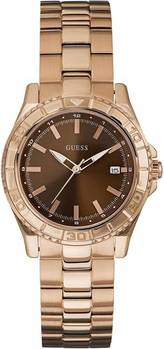 Watch Guess Women W0469L1 Army's Quartz Brown * You can get more details here : Guess Watches for Women
