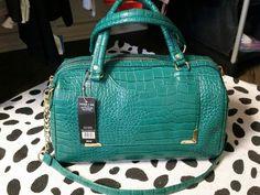 Olivia + Joy Melialuna Croc Embossed Collection Handbags NWT Teal $98 #OliviaJoy #ShoulderBag