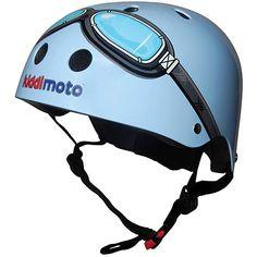 Kiddimoto Kids Helmet - Blue Goggle Small Review Kids Helmets, Beach Cruiser Bikes, Bike Trainer, Safety Helmet, Balance Bike, Bike Style, Kids Bike, Retro, Bmx