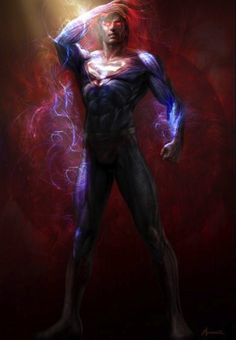 Man Of Steel costume concept by Mansera courtesy of Warner Bros