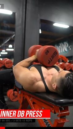Chest And Tricep Workout, Chest Workout Routine, Abs And Cardio Workout, Push Workout, Gym Workout Videos, Weight Training Workouts, Gym Workout For Beginners, Dumbbell Workout, Chest Exercises