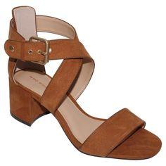 Women's Ashlyn Block Heel Quarter Strap Sandals Who What Wear - Cognac (Red) 8.5