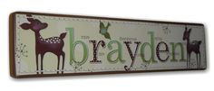 willow deer decor | Kids Nursery Room Wood Sign Plaque Decor - Farmhousefive Art for Kids