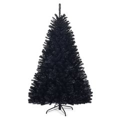 Description Our Halloween Christmas tree is a perfect decoration to accompany with you through the Halloween and Christmas. Hinged branches make it easy to setup and tear-down. The all-black design allows you to embrace the spooky festival feeling. Halloween Christmas Tree, Christmas Store, Xmas Tree, Black Christmas Tree Decorations, Dark Christmas, Christmas Ideas, Christmas 2019, Simple Christmas, Black Christmas