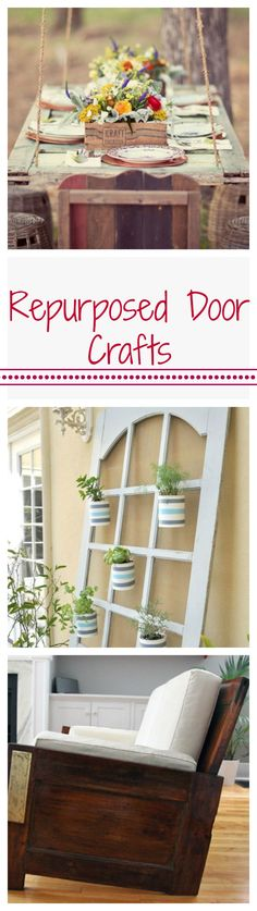 When one door closes, another exciting DIY opportunity opens, like these cool ways to repurpose old doors.