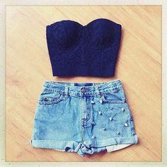 shorts tiro alto -