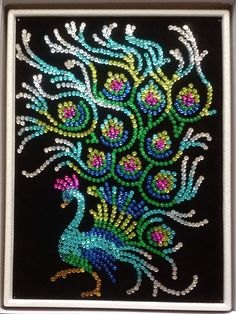 Sequin Art peacock. 2015.