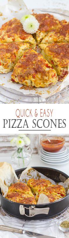 Quick and Easy Pizza Scones with fruity Marinara tomato Sauce | Schnelle und einfache Pizza Scones mit frichtiger Tomatensauce