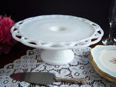 Hey, I found this really awesome Etsy listing at https://www.etsy.com/listing/174463595/lovely-imperial-glass-lace-edge-white