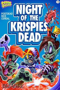 This Horror Cereal Killer Art Is Absolutely Perfect! Classic Horror Movies, Horror Films, Horror Art, Horror Icons, Horror Cartoon, Funny Horror, Horror Comics, Cartoon Art, Cereal Killer