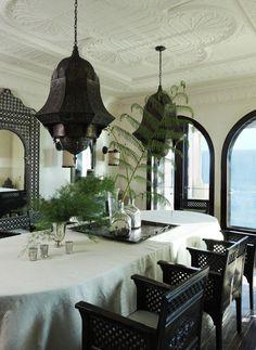 Moroccan style dining room by Martyn Lawrence Bullard