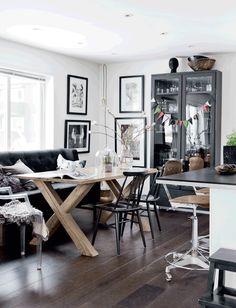Beautiful modern interior with a semi industrial feel.