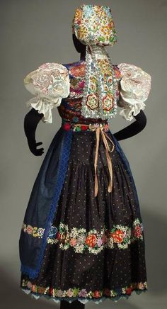 Hrochoť village, Podpoľanie region, Central Slovakia. Merry Widow, Folk Clothing, Folk Embroidery, Ethnic Dress, Folk Costume, Historical Costume, Ethnic Fashion, Traditional Dresses, Beautiful Outfits