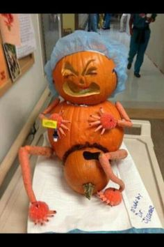 next year's pumpkins -this is great Nurse humor!