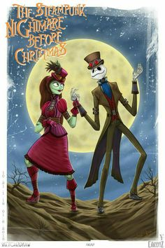 Jack and Sally - The Nightmare Before Christmas, 1993 Tim Burton Kunst, Tim Burton Art, Sally Nightmare Before Christmas, Disney Love, Disney Art, Tim Burton Characters, Jack The Pumpkin King, Jack And Sally, Christmas Love