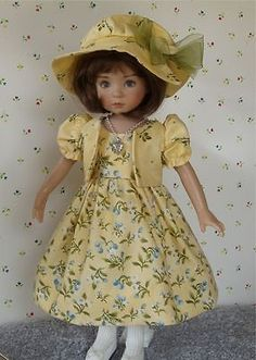 "Miss Sunshine Dress Jacket Outfit for 13"" Effner Little Darling Dolls 