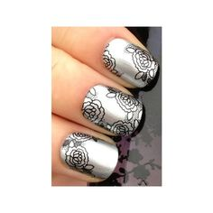 NAIL ART WRAP WATER TRANSFER DECALS BLACK LACE MESH ROSES/FLOWERS #86 ($10) ❤ liked on Polyvore featuring beauty products, nail care, nail treatments, nails, makeup and nail polish