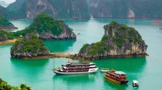 Christina sails into a world of legends and stunning seascapes in Halong bay. Read more #travel to Vietnam #otaokitchen