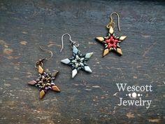 Wescott Jewelry - SuperDuo Star Earrings with Kite Beads!