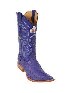 Los Altos Purple Ostrich Cowboy Boots - Los Altos / Wild West Boots
