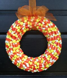 Year round wreath teacher appreciation appreciation gifts candy corn wreath negle Image collections