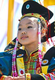 Buryat girl in national clothes