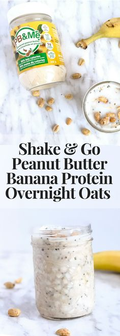 Shake & Go Peanut Butter Banana Protein Overnight Oats and 4 Mistakes to Avoid When Making Overnight Oats #overnightoats #breakfast #healthybreakfast #vegetarianrecipe #buzzfeedfood #eeeeats #foodie