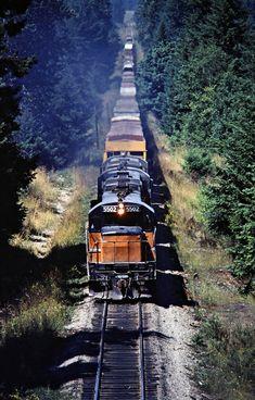 MILW, Frederickson, Washington, 1979 Southbound Milwaukee Road freight train near Frederickson, Washington, on July 16, 1979. Photograph by John F. Bjorklund, © 2016, Center for Railroad Photography and Art. Bjorklund-68-14-03