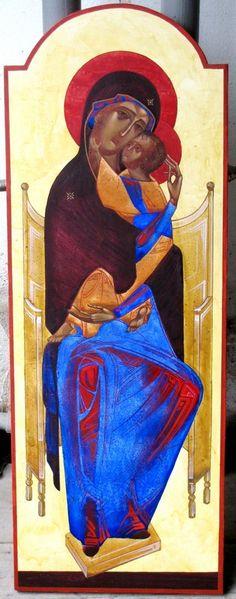 Author: Ivanka Demchuk» Virgin on the throne - contemporary