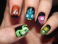 ugly doll nails by daily nail.