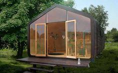 Petite maison en carton: Beaucoup de personnes pensent que le carton n'est pas matériau de construction fiable. Cependant, c'est l'un des plus