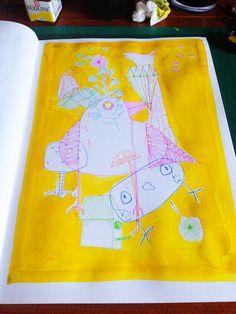 Yellow doodles