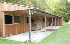 Timber stable block with generous overhang