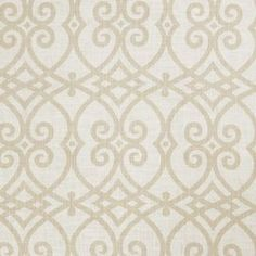 """Add a pop of pattern to your well-appointed home with this eye-catching fabric, showcasing a scrolling motif for stylish appeal.  Product: FabricConstruction Material: 55% Linen and 45% rayonColor: CashewDimensions: Pattern Repeat: 12"""" x 9""""Overall: 36"""" x 54"""""""