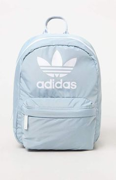 adidas brings a colorful piece to your back to school wardrobe with the Gray & White National Compact Backpack. This essential backpack comes in a statement mak Cute Backpacks For School, Cute School Bags, Cute Mini Backpacks, Trendy Backpacks, Girls School Bags, Book Bags For School, Leather Backpacks, Leather Bags, Bags For Teens