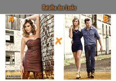Visite a nossa página no Facebook e participe da Batalha dos Looks! Qual destes vestidos para balada é o seu preferido? A ou B? http://www.facebook.com/farump.jeans