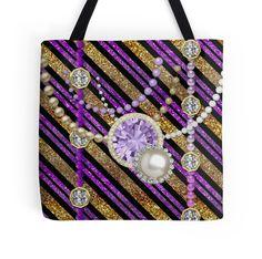 #Glitter&Jewels #Purple&GoldTones #ToteBag by #MoonDreamsMusic
