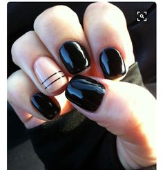 Black nude and pinstripes