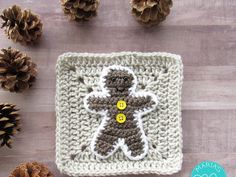 WEEK 5 - Christmas Granny Afghan CAL - Gingerbread Man