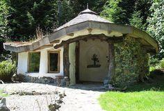 Cob meditation sanctuary at Hollyhock on Cortes Island, Canada. www.hollyhock.ca