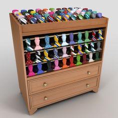 tie display rack 3d 3ds