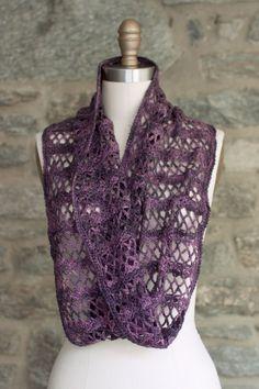 NobleKnits: Manos Fino Membrillo Infinity Scarf Crochet Pattern