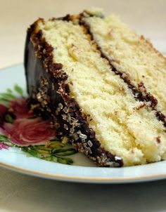 Recipe: Basic Yellow Butter Cake  Yellow cake with chocolate frosting......my all time favorite!!
