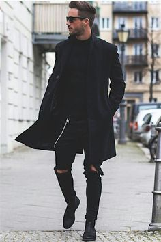 All black everything by Magic Fox dress to kill. #Men #Fashion #Street #urban #inspiration #Model #menswear #black Pinterest: Junior D-Martin