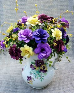 Paper Flower Arrangement in A pansey by SweetPeaPaperFlowers, $55.00