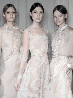 Josephine Skriver, Jacquelyn Jablonski and Sara Blomqvist backstage at Valentino