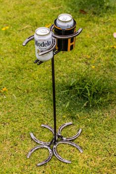 Horseshoe Drink Holder on BourbonandBoots.com-SR