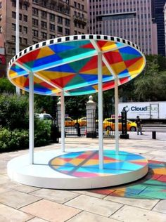 Free Summer Culture: 8 New Public Art Installations NYC Kids Will Love - Public Art, Art in the Parks NYC, Art in Manhattan Free Summer, Summer Kids, Installation Art, Art Installations, Daniel Buren, Art In The Park, Nyc With Kids, Nyc Art, Sand Crafts