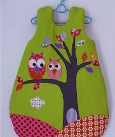 DIY Simple Baby Sleeping Bag from Free Template